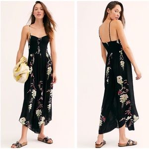 Free People Floral Black Maxi Dress